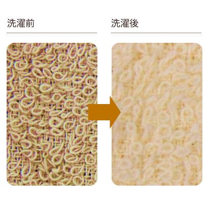 洗濯前後の比較