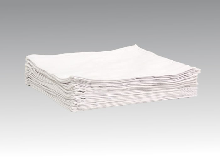 洗濯に強い清拭用白格子オシボリ